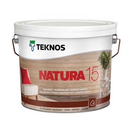Teknos Natura 15 Водоразбавляемый полуматовый лак для внутренних деревянных стен и потолков