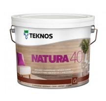 Teknos Natura 40 Водоразбавляемый полуглянцевый лак для внутренних деревянных стен и потолков