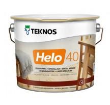 Teknos Helo 40 Полуглянцевый лак по дереву для ответственных работ внутри и снаружи помещений