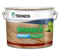Teknos Woodex Aqua Wood Oil Водоразбавляемое колеруемое глубоко проникающее масло для окраски деревянных поверхностей