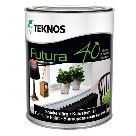 Teknos Futura 40 Полуглянцевая уретан-алкидная краска для использования внутри и снаружи помещений