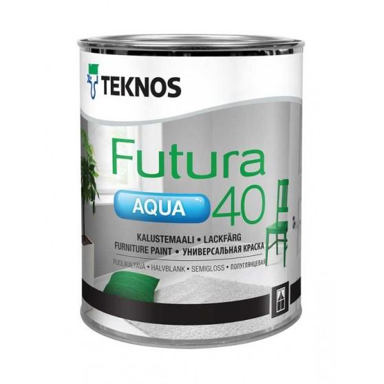 Teknos Futura Aqua 40 Водоразбавляемая полуглянцевая краска для мебели внутри и снаружи помещений