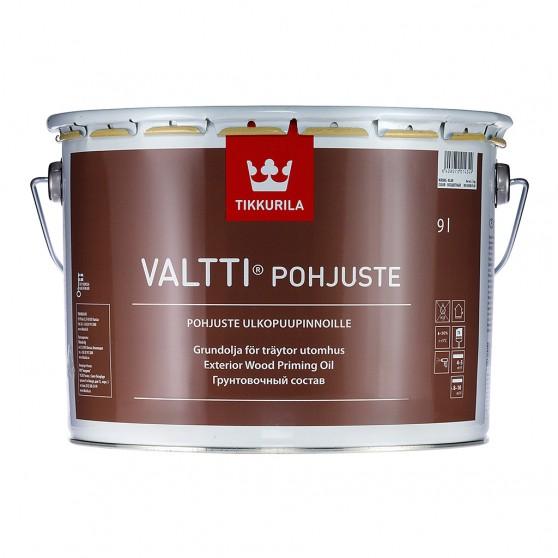 Tikkurila Valtti Pohjuste Бесцветный грунтовочный антисептик для обработки древесины снаружи.