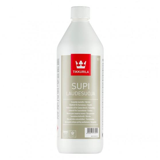 Tikkurila Supi Laudesuoja Парафиновое масло для защиты деревянных полков в бане.