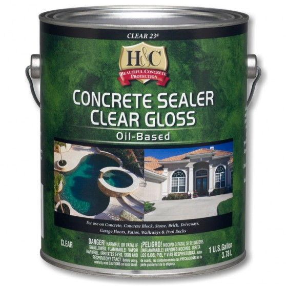 Sherwin Williams H&C Concrete Sealer Clear Gloss Oil-based / Шервин Вильямс Лак - пропитка для бетона