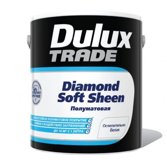 Dulux Trade Diamond Soft Sheen Полуматовая краска повышенной износостойкости для стен и потолков