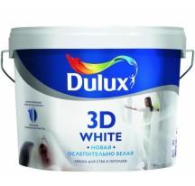 Dulux 3D White ослепительно белая матовая акриловая краска для стен и потолков