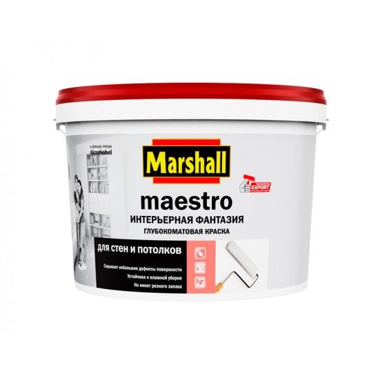 Marshall Maestro Интерьерная Фантазия Глубокоматовая водно-дисперсионная краска для стен и потолков