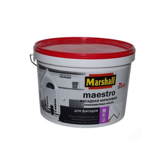 Marshall Maestro Фасадная Глубокоматовая водно-дисперсионная краска для наружных работ