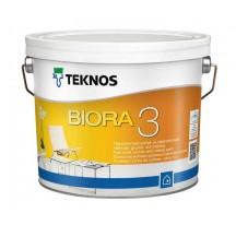 Teknos Biora 3 Водоразбавляемая совершенно матовая грунтовочная краска без запаха