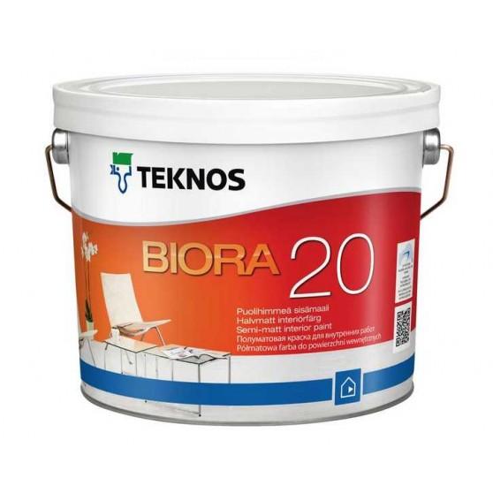 Teknos Biora 20 Водоразбавляемая полуматовая интерьерная краска без запаха