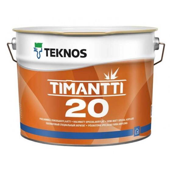 Teknos Timantti 20 Водоразбавляемая полуматовая краска для сухих и влажных помещений