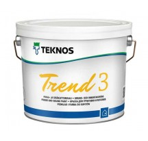 Teknos Trend 3 Водоразбавляемая совершенно матовая краска для стен и потолка