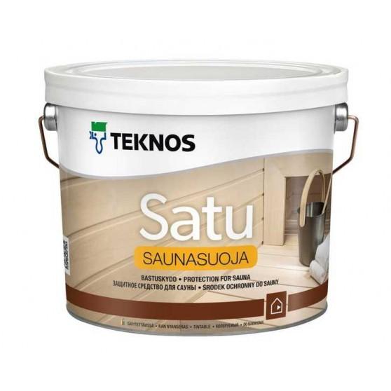 Teknos Satu Sauna Suoja Водоразбавляемое тиксотропное средство для защиты деревянных поверхностей