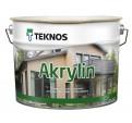 Teknos Akrylin Водоразбавляемая полуматовая акрилатная краска для деревянных поверхностей