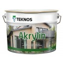 Краска фасадная для дерева Teknos Akrylin / Текнос Акрилин