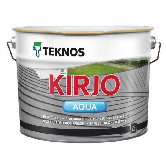 Teknos Kirjo Aqua Водоразбавляемая краска на акрилатной основе с антикоррозионными пигментами для крыш из листового металла