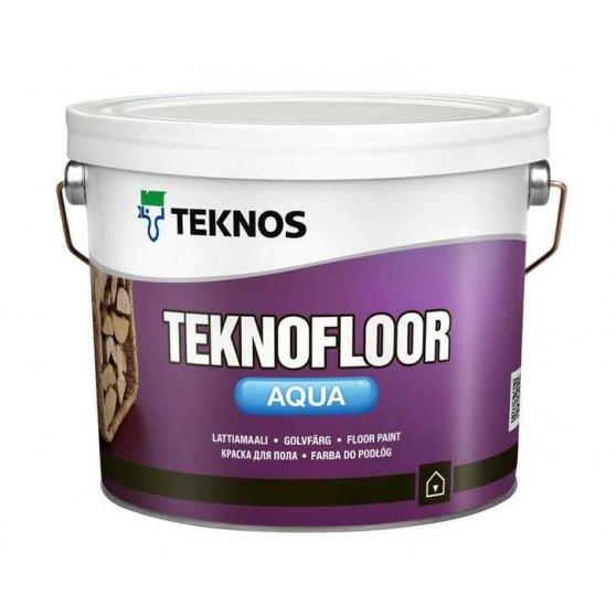 Teknos Teknofloor Aqua Водоразбавляемая полуглянцевая краска для бетонных и деревянных полов