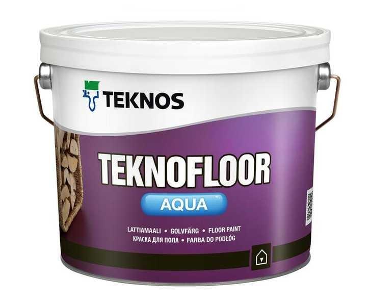 Краска для деревянных полов Teknos Teknofloor Aqua (Текнос Текнофлор Аква) водно эмульсионная