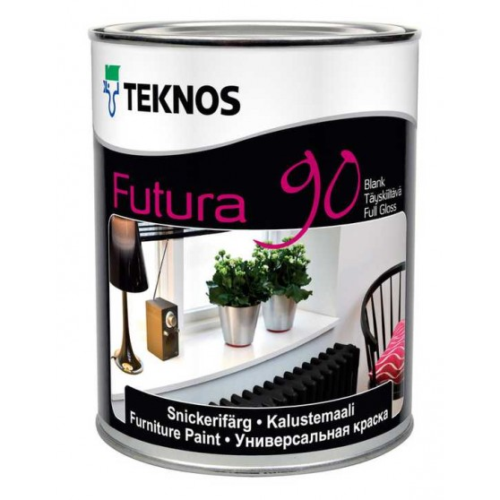 Teknos Futura 90 Высокоглянцеваяуретан-алкидная краска для использования внутри и снаружи помещений