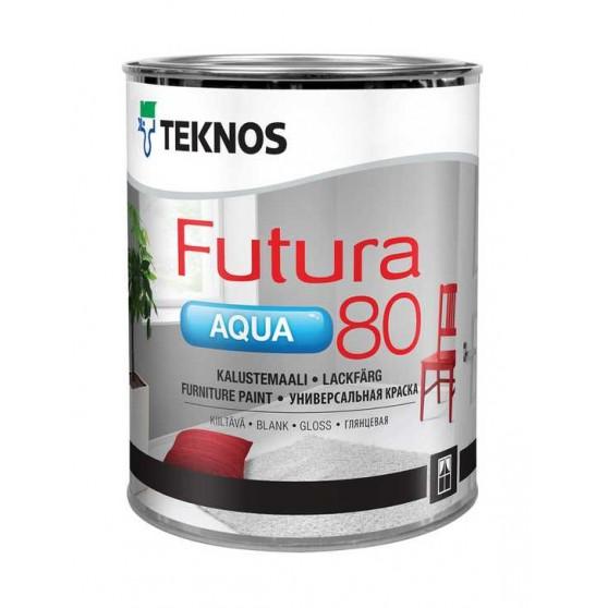 Teknos Futura Aqua 80 высокоглянцевая краска для мебели внутри и снаружи помещений