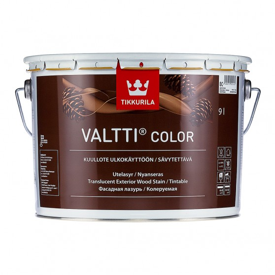 Tikkurila Valtti Color Колеруемая фасадная лазурь на масляной основе