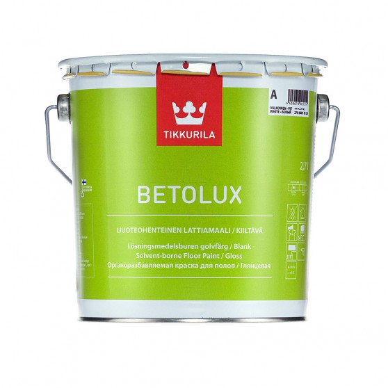 Tikkurila Betolux Глянцевая краска для окраски полов.