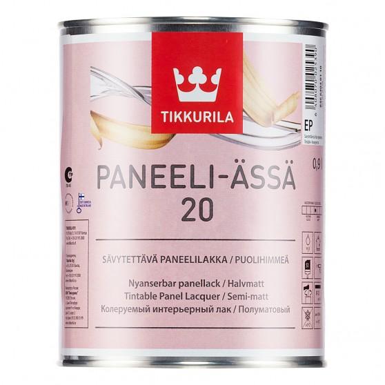 Tikkurila Paneeli Assa полуматовый акрилатный лак.