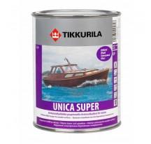 Tikkurila Unica Super Износостойкий уретано-алкидный лак быстрого высыхания глянцевый