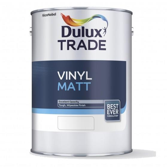 Dulux Trade Vinyl Matt матовая акриловая краска для стен и потолков. Стойкая к мытью.