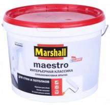Marshall Maestro Интерьерная Классика Глубокоматовая водно-дисперсионная краска для стен и потолков