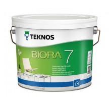 Teknos Biora 7 Водоразбавляемая матовая краска без запаха для стен