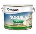 Teknos Nordica Eko Водоразбавляемая глянцевая краска на основе акрилата для деревянных поверхностей