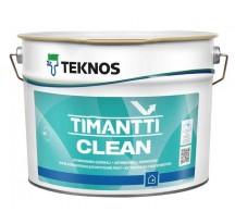 Teknos Timantti Clean Водоразбавляемая полуматовая антимикробная интерьерная краска