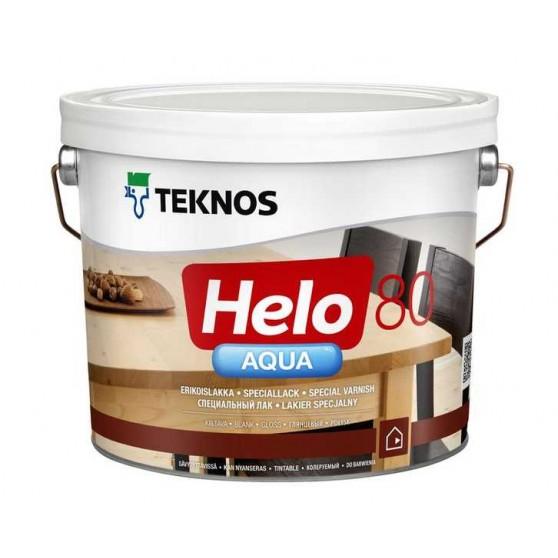 Teknos Helo Aqua 80 Водоразбавляемый глянцевый лак для деревянных поверхностей внутри и снаружи помещений